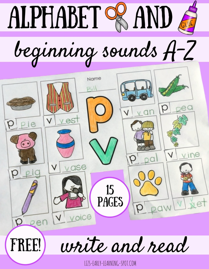 Free Alphabet Cut And Paste Write And Read Lizs Early Learning Spot