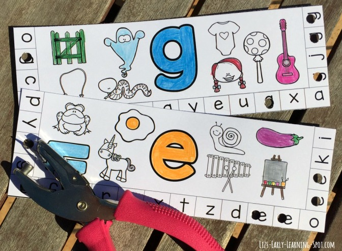 Punching holes is a fun way to reinforce letter recognition. These free cards give practice with beginning sounds, too!