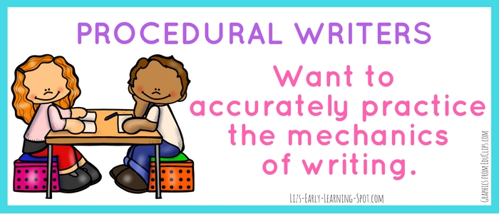 Procedural writers love to practice writing the alphabet. Find out more on the post!