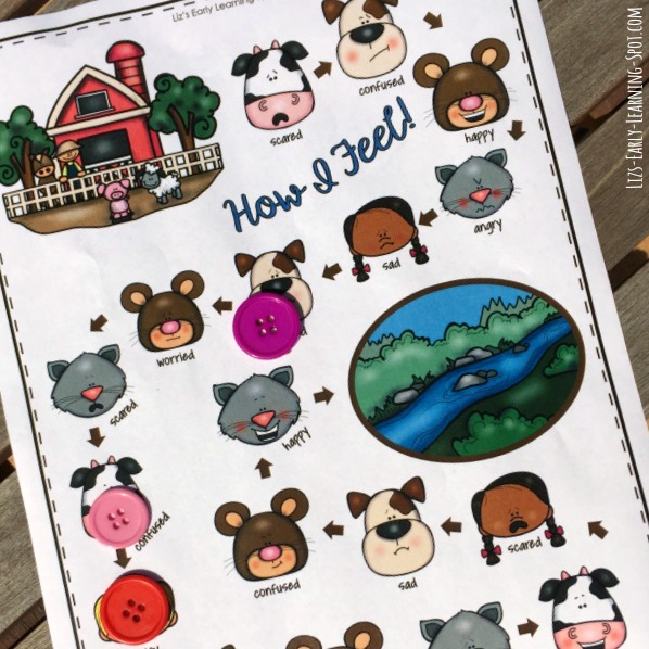 Practice making faces to express all the feelings in this free farm-themed game!