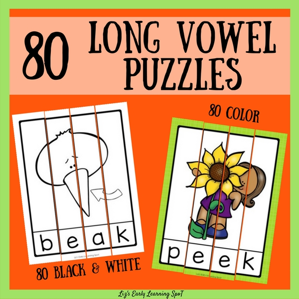 These long vowel puzzles are a low-stress way for kids to practice various long vowel patterns!