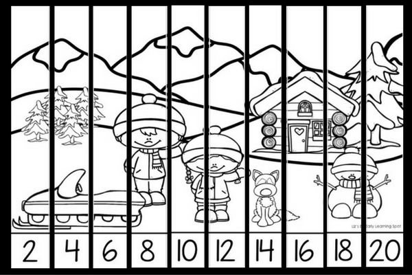 Christmas Skip Counting Puzzles Lizs Early Learning Spot