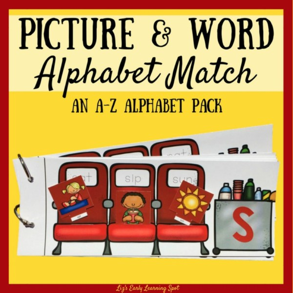 This picture and word match flip book is an effective way for kids to focus on the sounds in words!