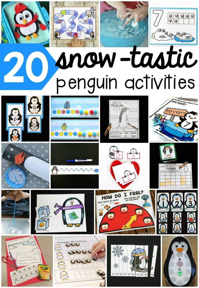 Wow! Find links to all these amazing (and free) penguin activities for early learners!