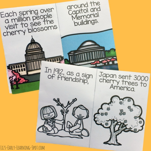Learn about the Washington Cherry Blossom Festival with these free readers!