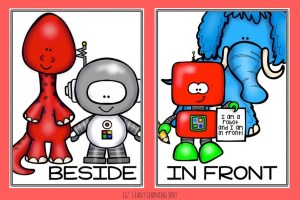 Free Robot Preposition Posters