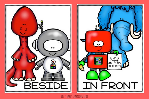 These sweet robot preposition posters are free and come in both color and black and white! Download yours today!