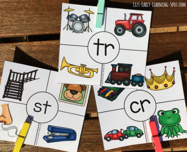 These free beginning blends clip cards are a fun way to practice beginning consonant blend sounds!