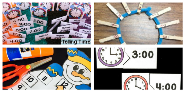 Free activities for telling time to the hour!