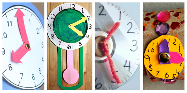 Lots of ideas for making clocks for learning about time!