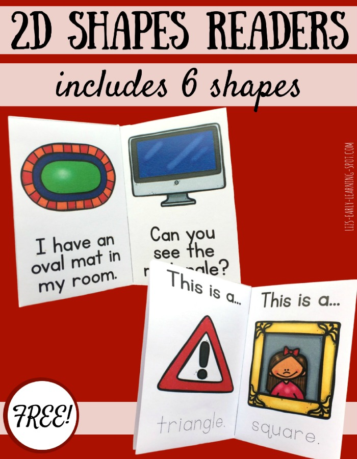 Learn about real world 2D shapes with these free geometry readers!