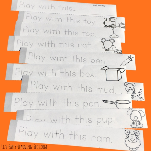 These free predictable sentences make great little books for reading and tracing practice!