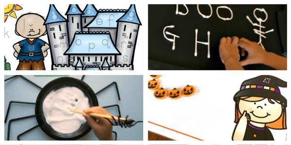 Trace and write letters with these fun Halloween alphabet ideas!
