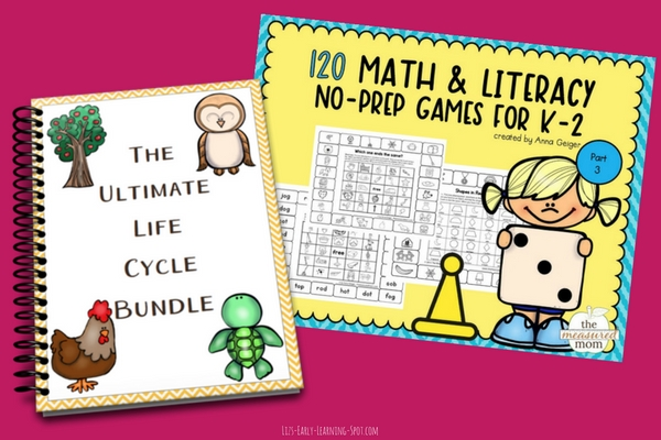 Life cycles and board games are just some of the activities in this bundle!
