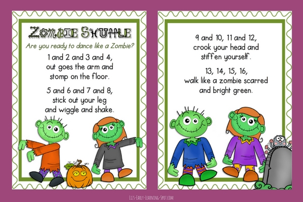 Introduce a fun Halloween action rhyme to your kids with these free posters!