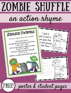 The Zombie Shuffle: Halloween Action Rhyme