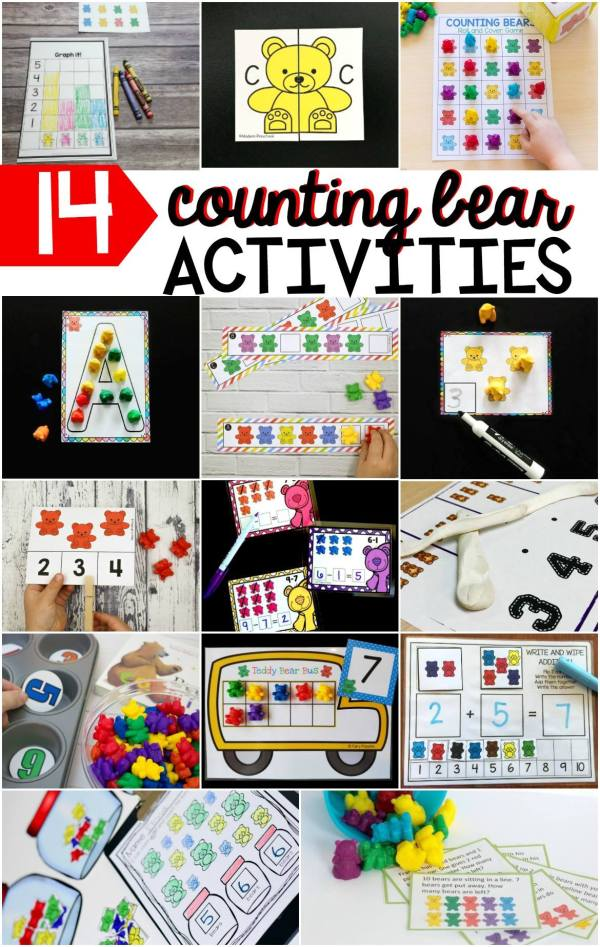 Wow! Lot's of fun (and free) ideas for learning with counting bears!