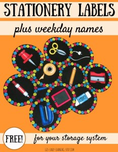 Weekday and Stationery Labels for Your Classroom