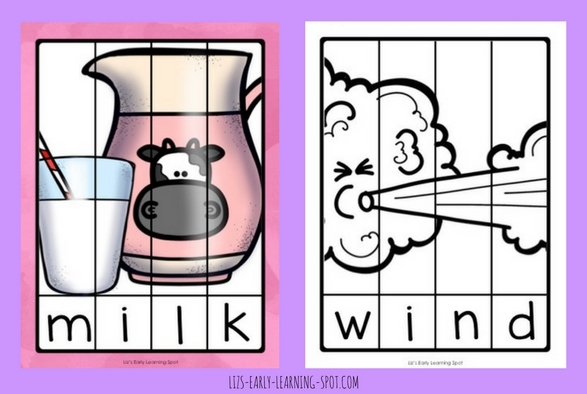 These cutie word puzzles are free and focus on CVCC words, particularly final blends!
