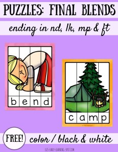 Final Blends Word Puzzles: CVCC Words