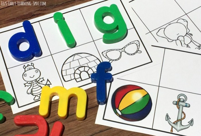 Have fun learning beginning sounds and CVC words with these free magnetic letters cards!