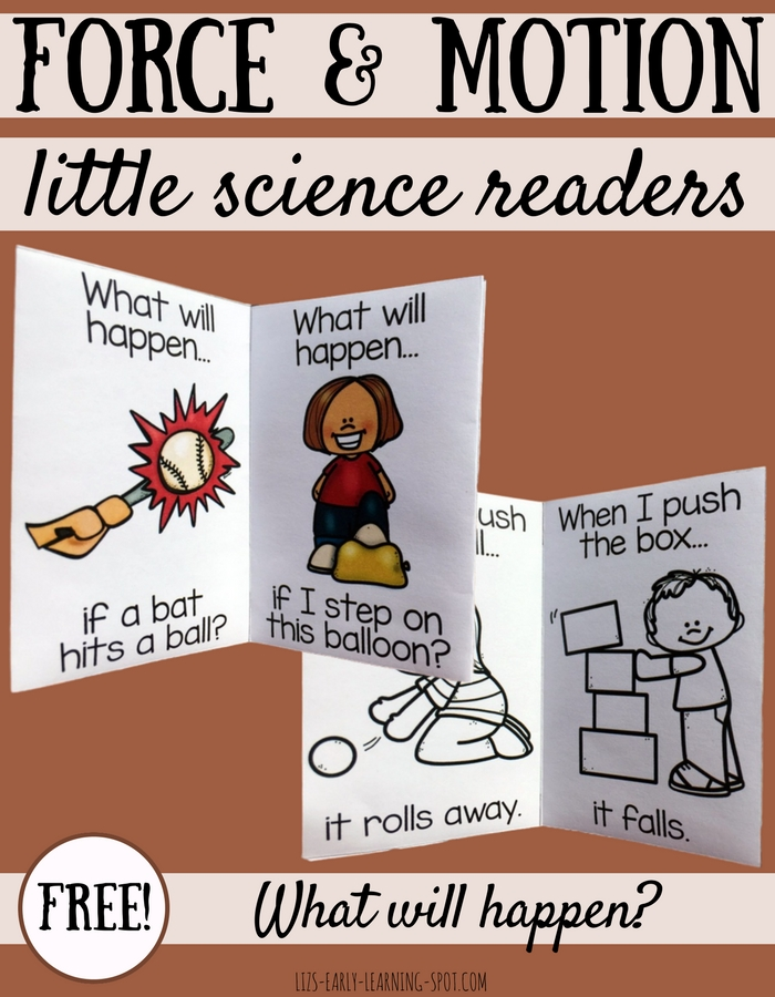 Learn about force and motion with these free little readers!