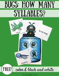 Bugs: How many syllables?