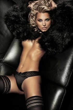 Sexy blond, black background