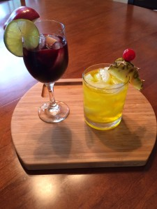 Sangria cocktail and rum punch