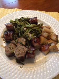 Broccoli Rabe with sausage and potatoes