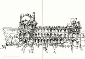 Complex buildings are fun  The Louvre  Liz Steel : Liz Steel