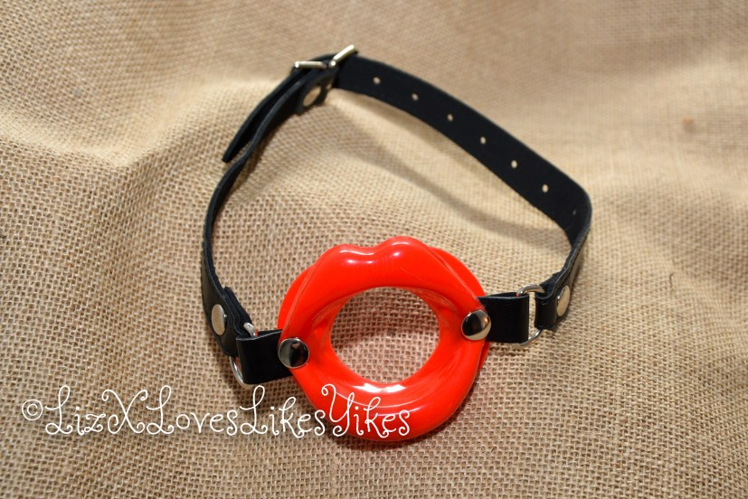 Review Red Lips Open Mouth Ring Gag  Copyright LizXlikes.com