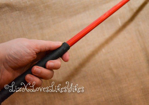 'El Bastardo' - caning implement by Mchurt.eu  Picture of whip is Liz' hand  Review by LizXLikes.com Copyright LizXLikes