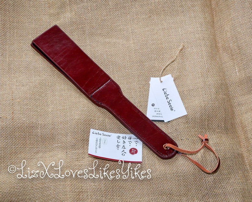 Review of Liebe Seele Wine Red - Leather Split Tawse Paddle  Copyright Liz BlackX