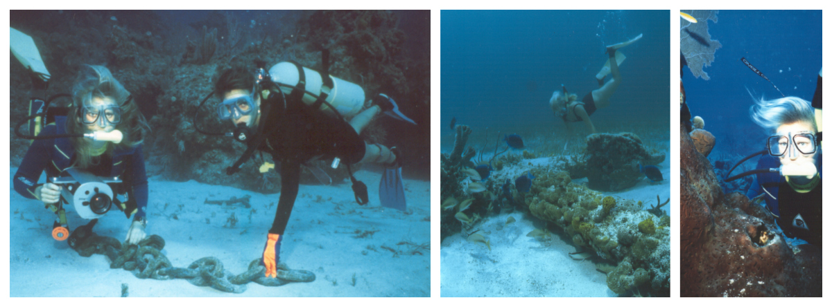 Bahamas 1995 underwater collage