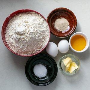ingredients for brioche burger buns