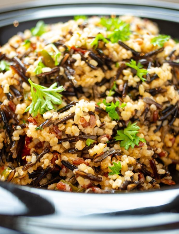 Cumin Wild Rice with Lemon Bulgar Wheat