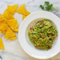 bowl of easy homemade guacamole
