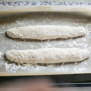Image of french baguette being made