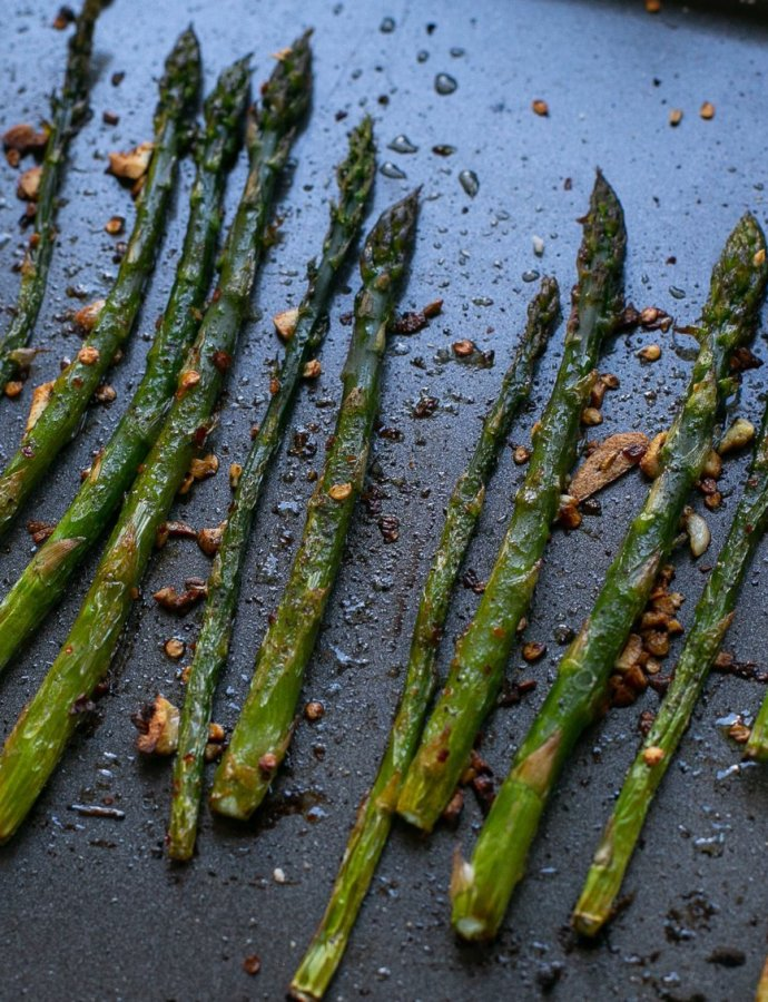 Spicy Roasted Asparagus
