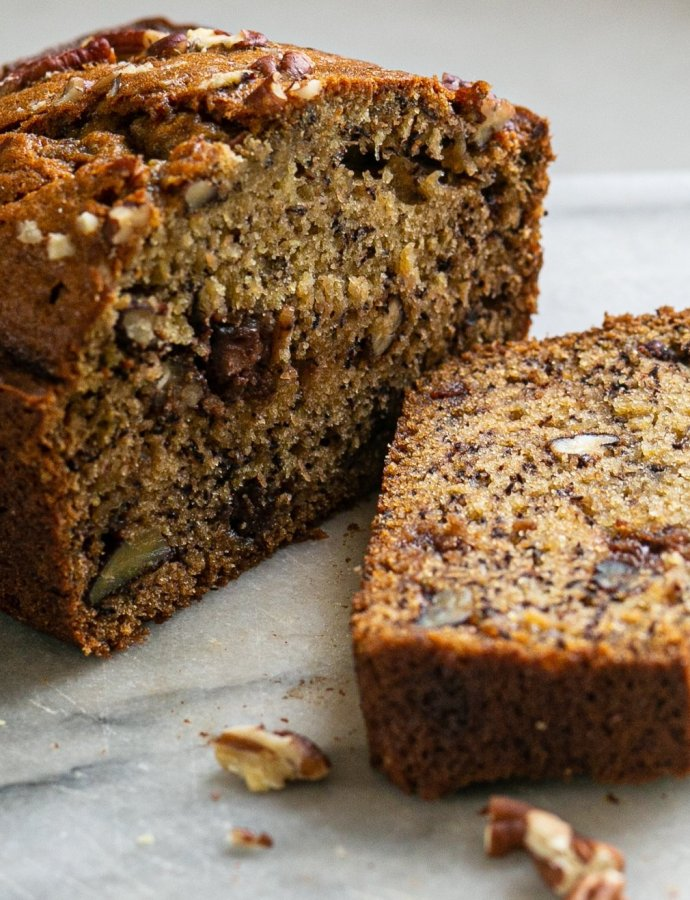 Chocolate Pecan Banana Bread