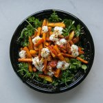 Roasted Carrot and nectarine salad