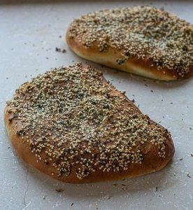 freshly baked maneesh bread