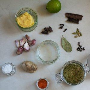 All the ingredients needed to make Dishoom's Lamb Raan