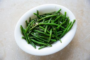 Garlic French Beans served in a dish
