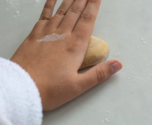 fresh pasta dough being flattened