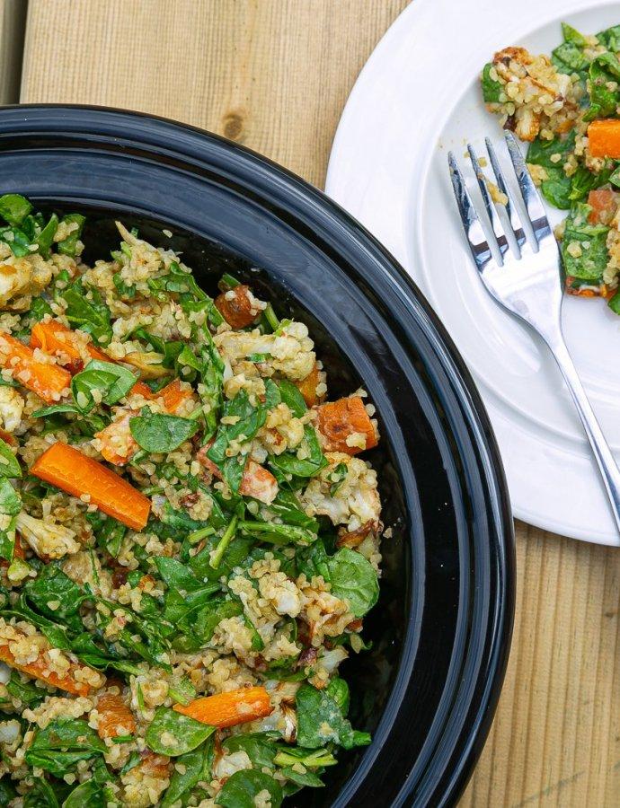 Tahini Roasted Cauliflower Salad