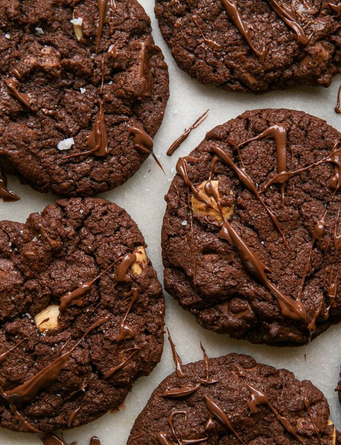 Double Chocolate Nutella Cookies