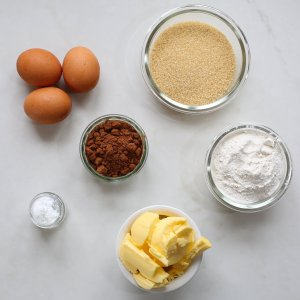 all the ingredients needed to make the best ever chocolate cupcakes