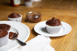 best ever chocolate cupcakes served with chocolate icing